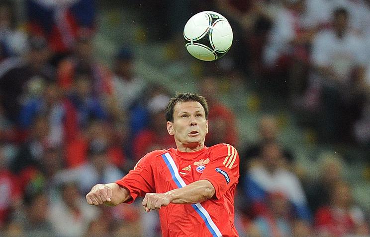 Игрок сборной России Константин Зырянов