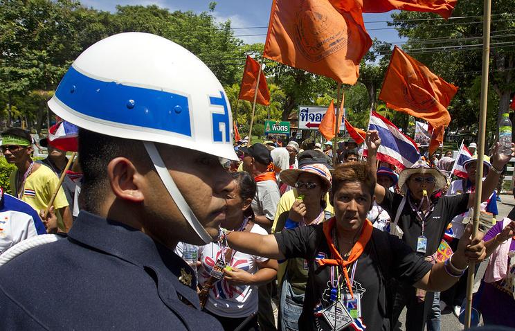 Антиправительственный митинг в Бангкоке