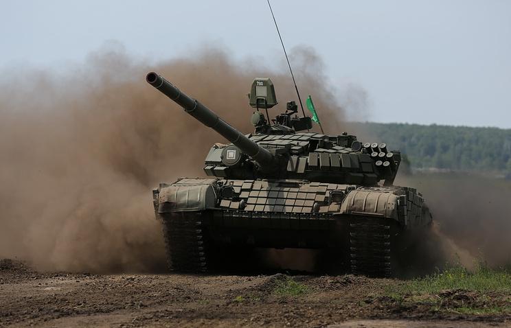Во время эстафеты по танковому биатлону на Чебаркульском полигоне в Челябинской области