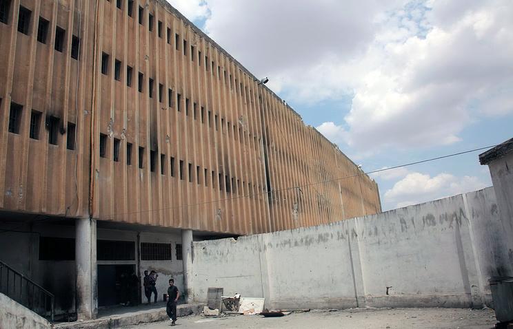 Здание тюрьмы в Алеппо, Сирия