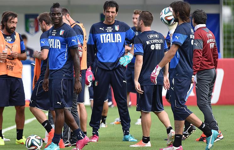 На тренировке сборной Италии