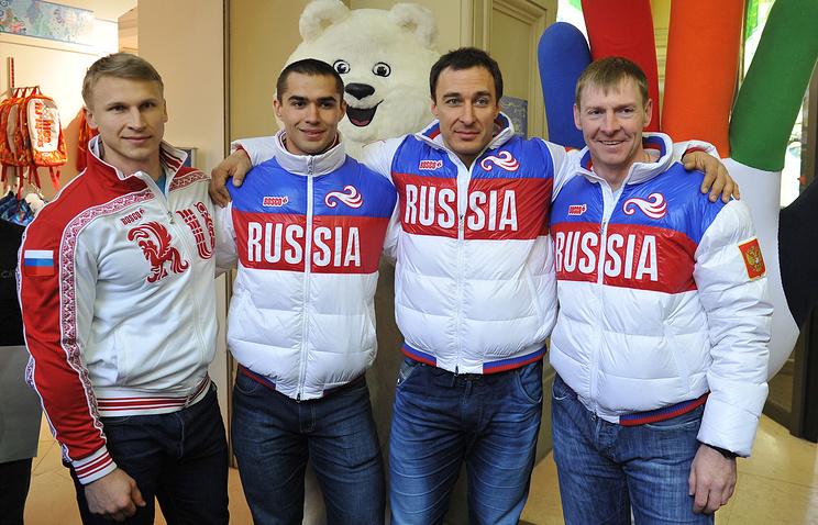 Дмитрий Труненков, Алексей Негодайло, Алексей Воевода и Александр Зубков (слева направо)