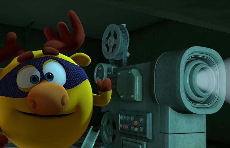 """Кадр из полнометражного мультипликационного фильма в формате 3D """"Смешарики"""""""