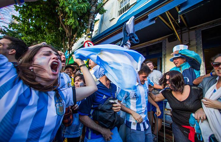 Болельщики сборной Аргентины по футболу
