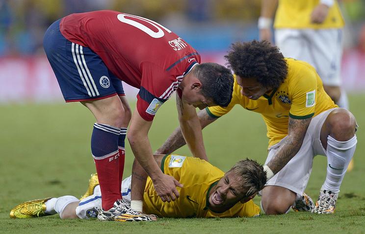Форвард сборной Бразилии Неймар получил травму