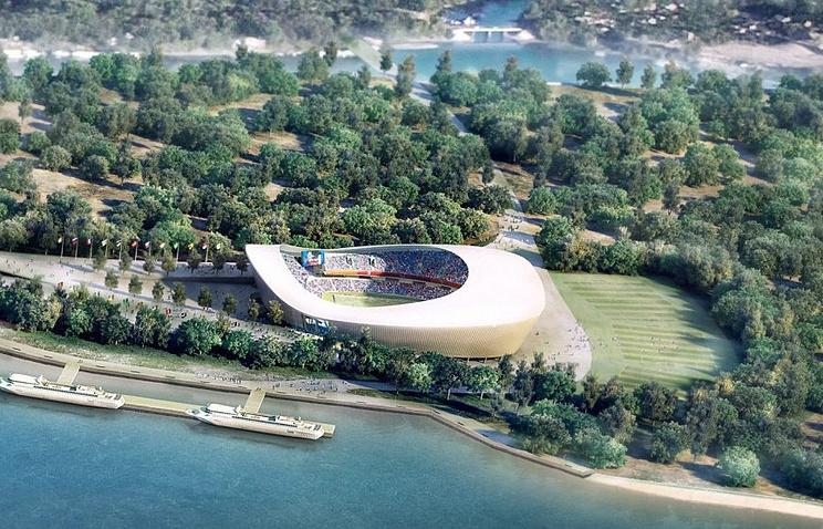 Макет стадиона в Самаре