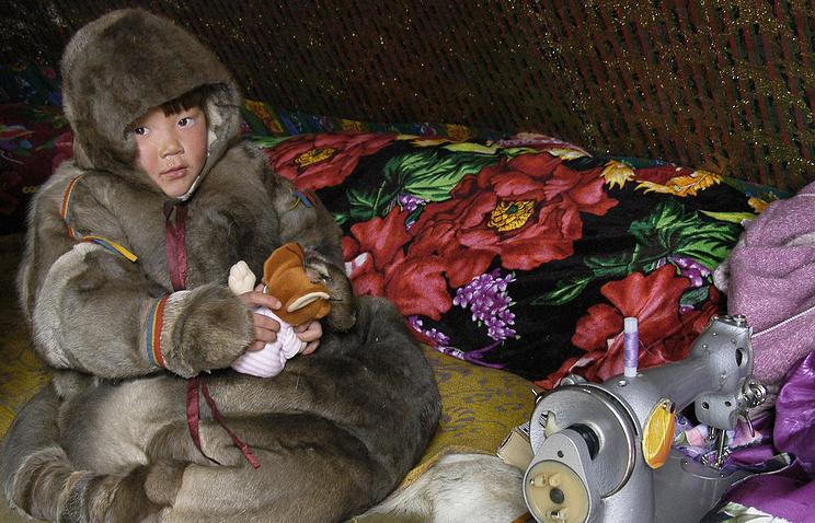 В чуме оленеводов в Байдаратской тундре на полуострове Ямал