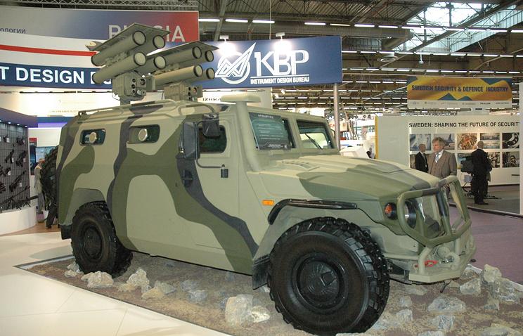 Модернизированный противотанковый ракетный комплекс «Корнет-ЭМ» на бронеавтомобиле «Тигр»