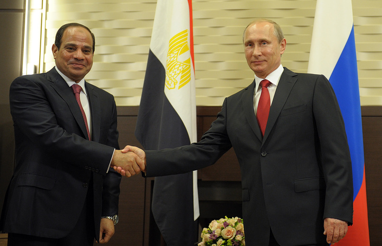 Президент Египта Абдель Фаттах ас-Сиси и президент России Владимир Путин