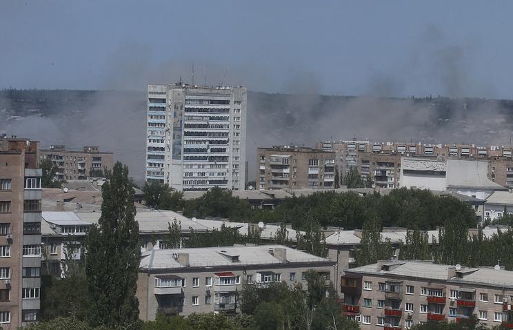 Луганск, июль 2014 год