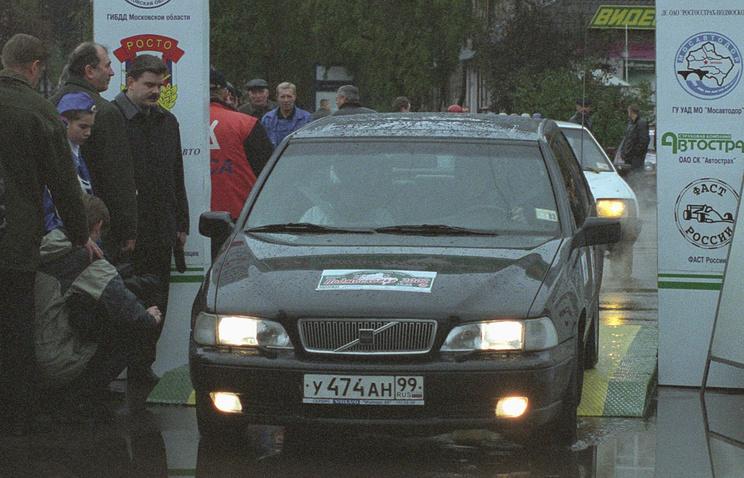 """Старт ралли """"Подмосковье-2002""""."""