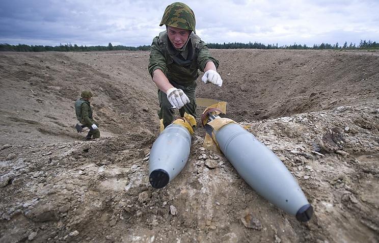 Утилизация боеприпасов, архивное фото, 2011 год
