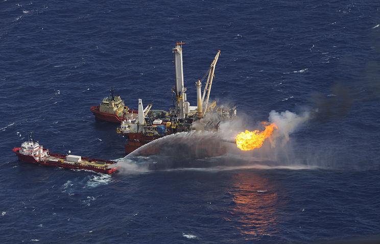 Пожар на нефтяной платформе Deepwater Horizon