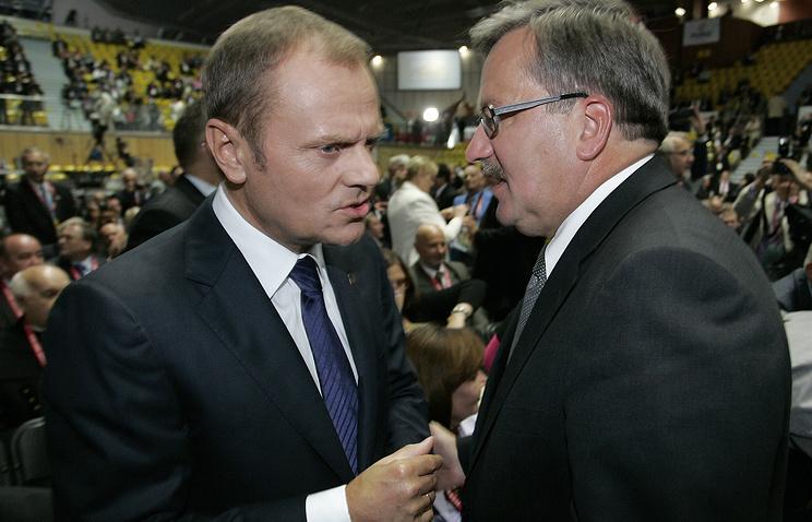 Дональд Туск и Бронислав Коморовский (слева направо)