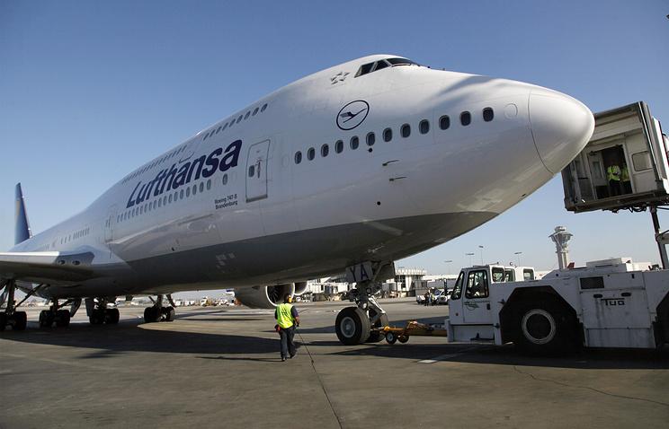 Boeing-747 авиакомпании Lufthansa
