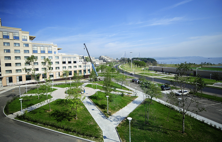 На территории Дальневосточного федерального университета