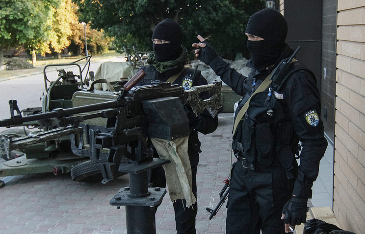 """Украинский батальон """"Азов"""" в Мариуполе"""