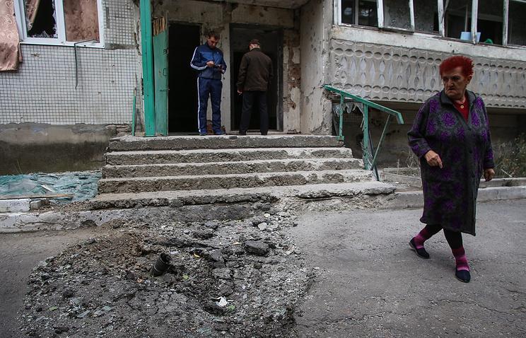 Последствия боевых действий в Донецкой области