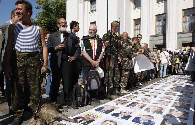 Во время акции у здания Верховной Рады с требованием перевыборов