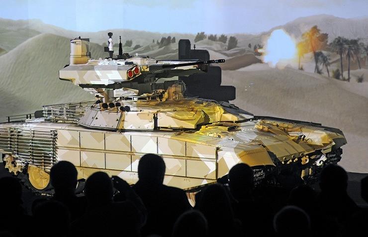 """Презентация новой боевой машины огневой поддержки БМПТ-72 """"Терминатор-2"""" на IX Международной выставке вооружения Russia Arms EXPO"""