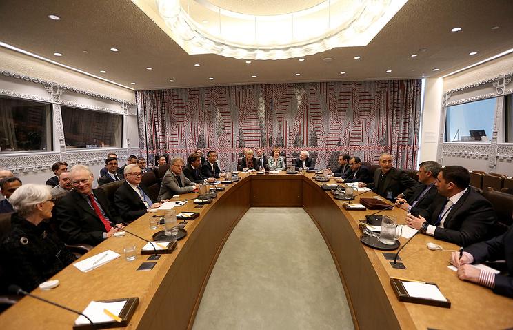 """Переговоры """"шестерки"""" по иранской ядерной программе в Нью-Йорке в сентябре 2014 года"""