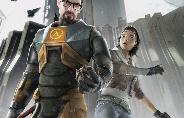 Персонаж игры Half-Life Гордон Фримен (слева)