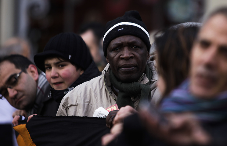 Демонстрация в Германии против местной миграционной политики