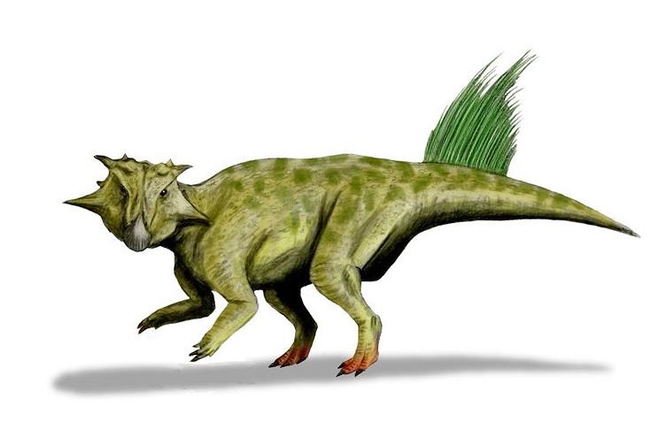 Пситтакозавр сибирский. Реконструкция