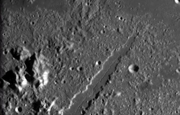 Участок поверхности Луны