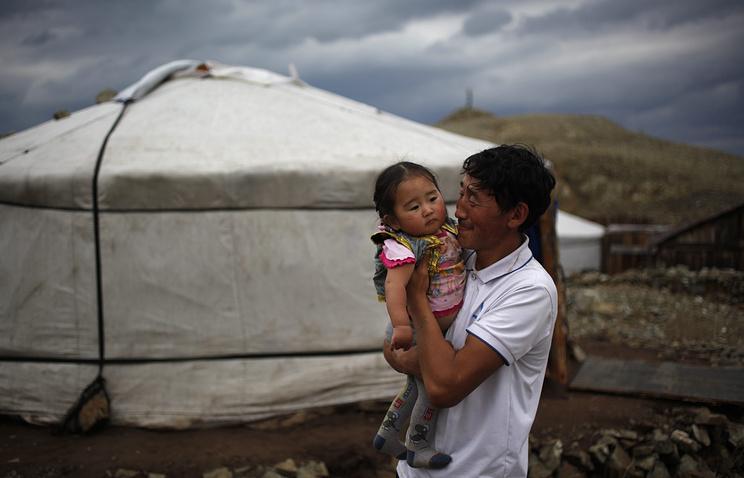 Жители Монголии. Архив