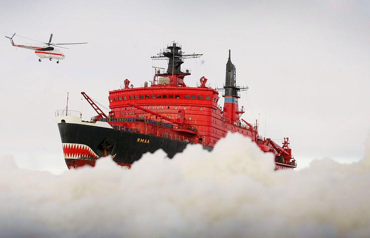 Россия. Мурманск. Атомный ледокол «Ямал»