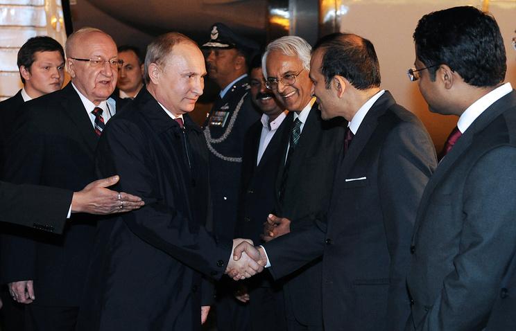 Владимир Путин прибыл в Дели