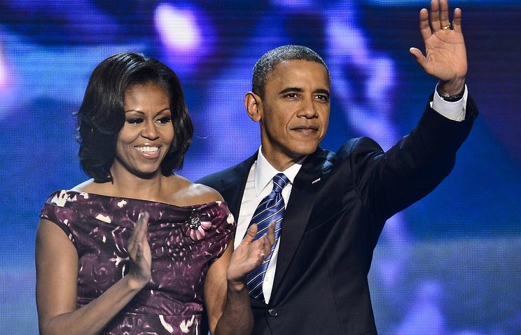 Президент США Барак Обама со своей супругой Мишель