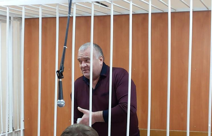 Виктор Голубев в зале суда