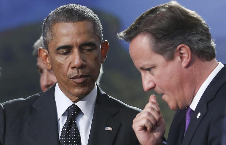 Президент США Барак Обама и премьер-министр Великобритании Дэвид Кэмерон