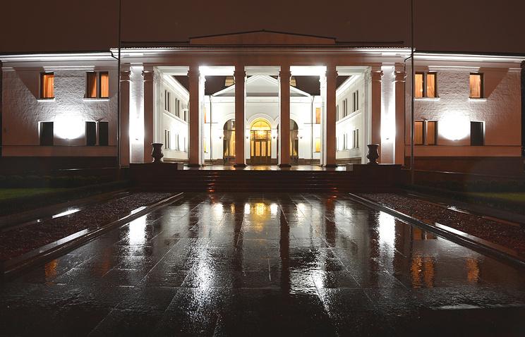 Правительственная резиденция в Войсковом переулке, где проходило заседание контактной группы, декабрь 2014 года