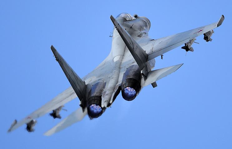 Самолет ВВС РФ Су-27