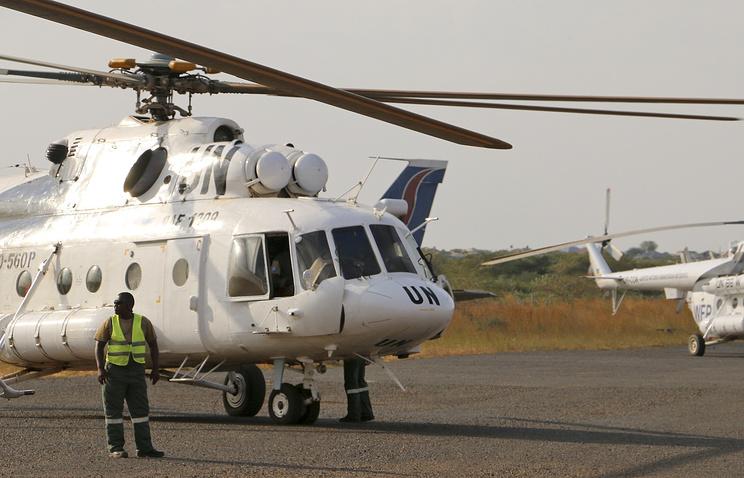 Вертолет ООН в Южном Судане