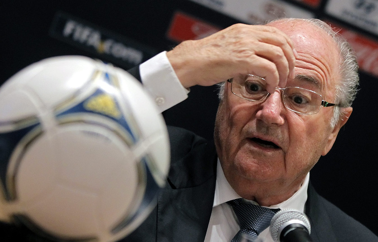 Президент FIFA (ФИФА) Йозеф Блаттер