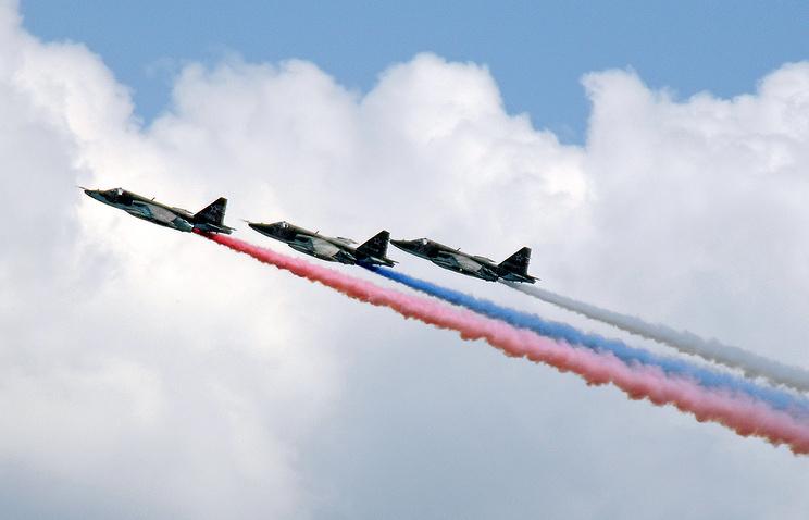 """Су-25 во время проведения """"Авиадартс-2014"""""""