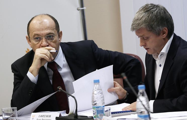 Президент РФПЛ Сергей Прядкин (слева)