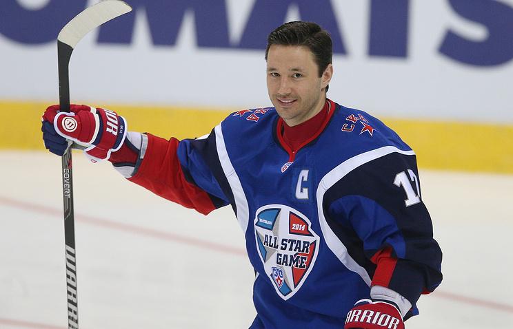 Капитан команды Запада Илья Ковальчук
