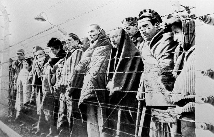 Узники Освенцима. 1945 год