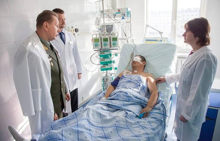 Полковник Серик Султангабиев в госпитале. Октябрь 2014 года