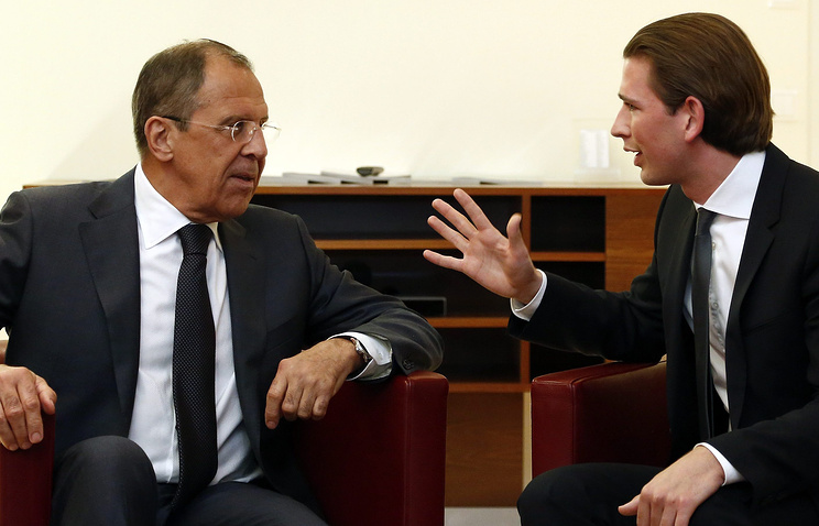 Сергей Лавров и Себастьян Курц