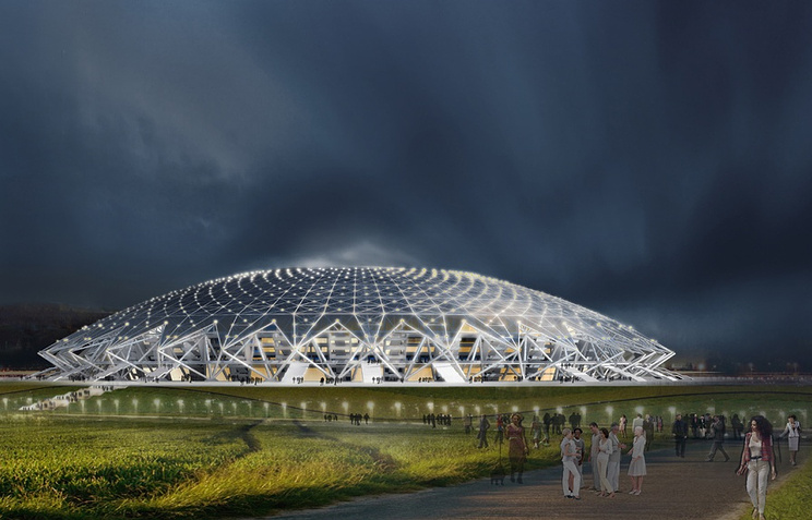 Эскизный проект футбольного стадиона в Самаре