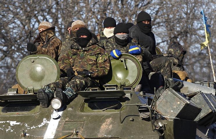 Украинские военнослужащие в районе Артемовска