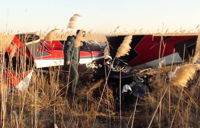 На месте крушения легкомоторного самолета Cetus-800 в Ростовской области