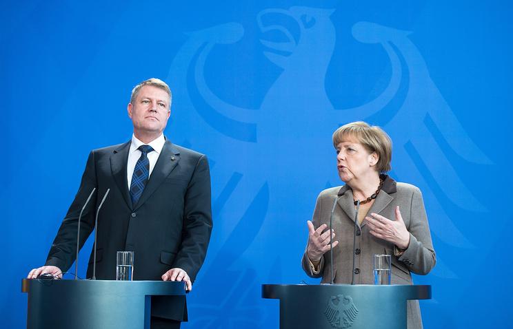 Клаус Йоханнис и Ангела Меркель