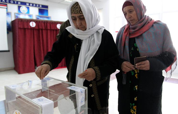 Избирательный участок в Душанбе